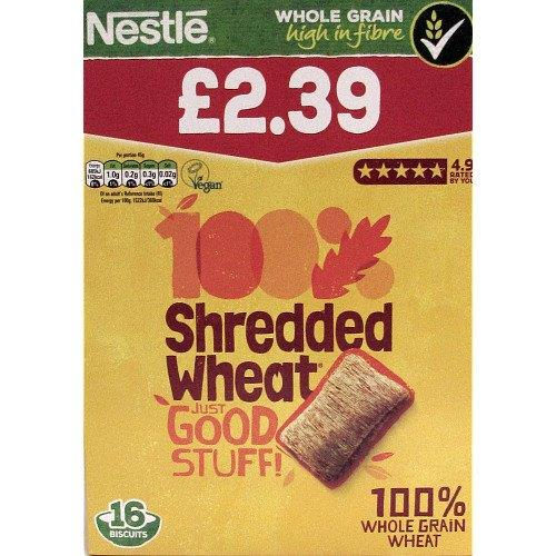 Nestle Shredded Wheat Biscuits 16's 360g PM £2.39