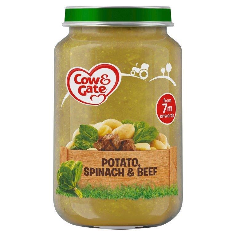 Cow & Gate (7+ Months) Potato, Spinach & Beef Jar 200g