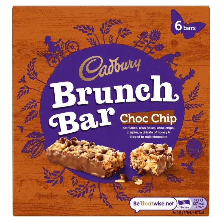 Cadbury Brunch Choc Chip 6pk (6 x 32g)