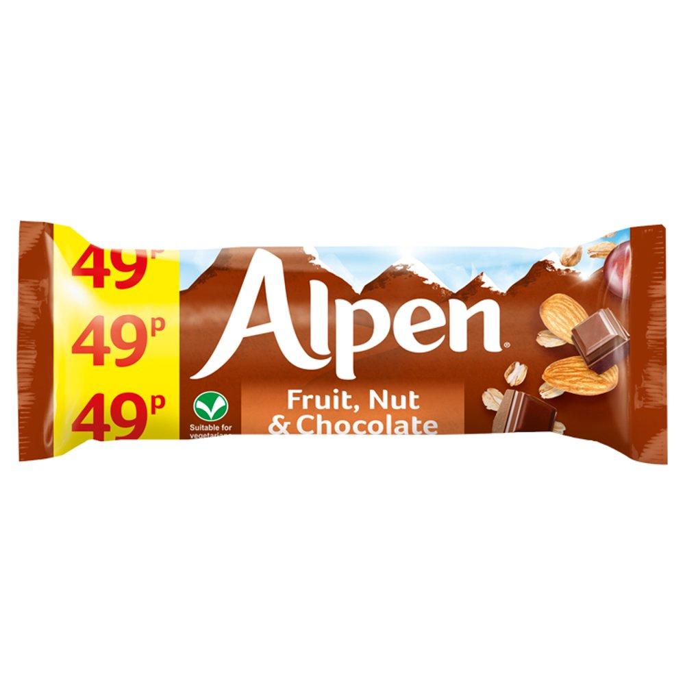 Alpen Bar Std Fruit & Nut Choc 29g PM 49p