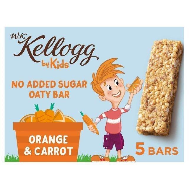 Kellogg's WK Kids Bar Orange & Carrot 5pk (5 x 22g) NEW