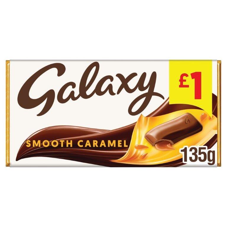 Galaxy Block Caramel 135g PM £1