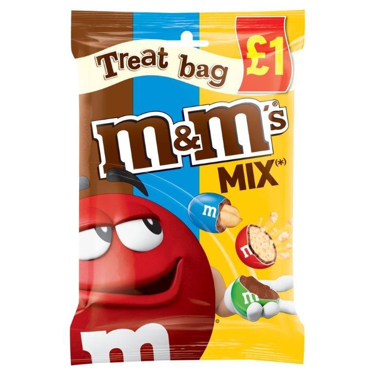 M&M's Treat Bag Mix 80g PM £1