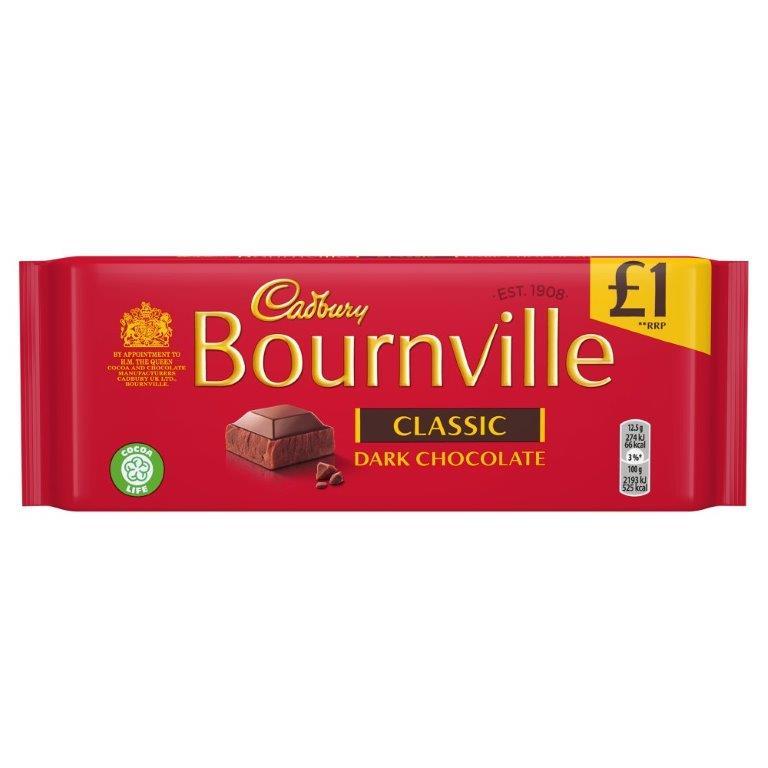 Cadbury Bourneville 100g PM £1