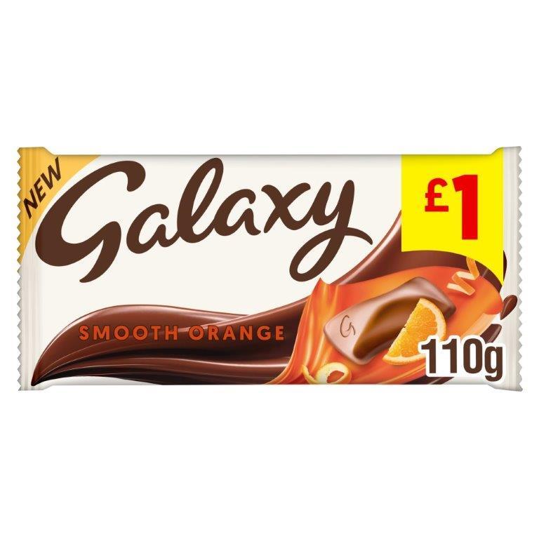 Galaxy Block Orange 110g PM £1 NEW