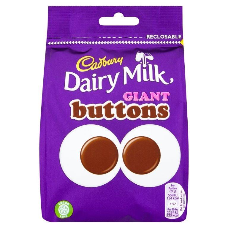 Cadbury Large Bag Giant Buttons 119g