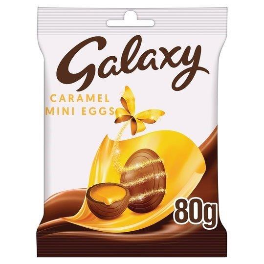 Galaxy Chocolate Caramel Mini Eggs Bag 80g