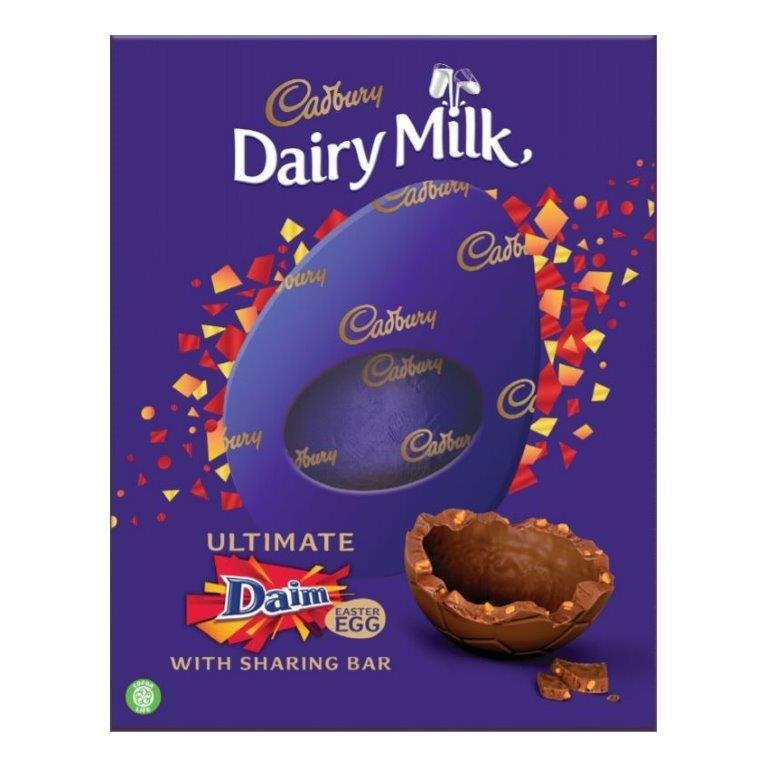 Cadbury Dairy Milk Daim Egg Inclusions 542g