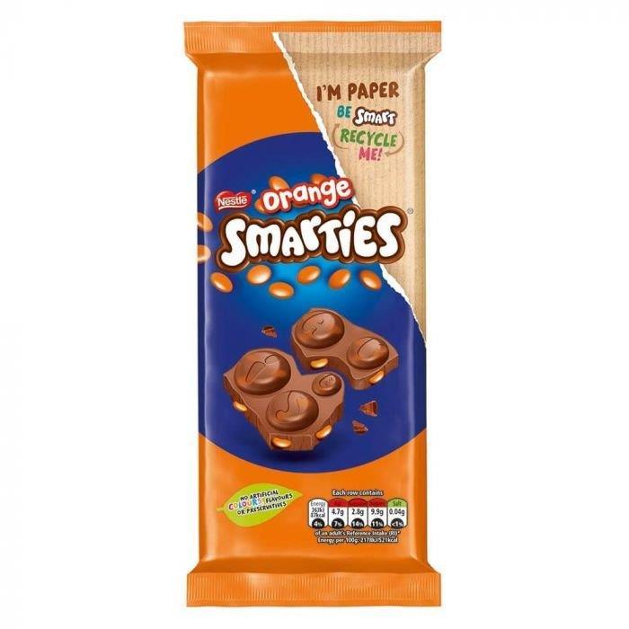 Smarties Block Orange 90g NEW