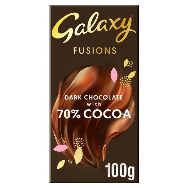 Galaxy Fusions Dark Chocolate 100g NEW