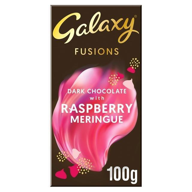 Galaxy Fusions Dark Chocolate & Raspberry Meringue 100g NEW
