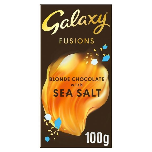 Galaxy Fusions Blonde Chocolate & Sea Salt 100g NEW