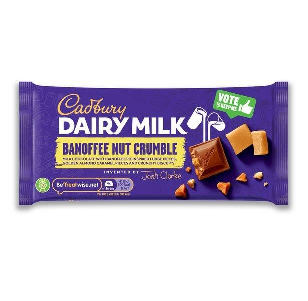 Cadbury Inventor Banofee But Crumble 110g NEW
