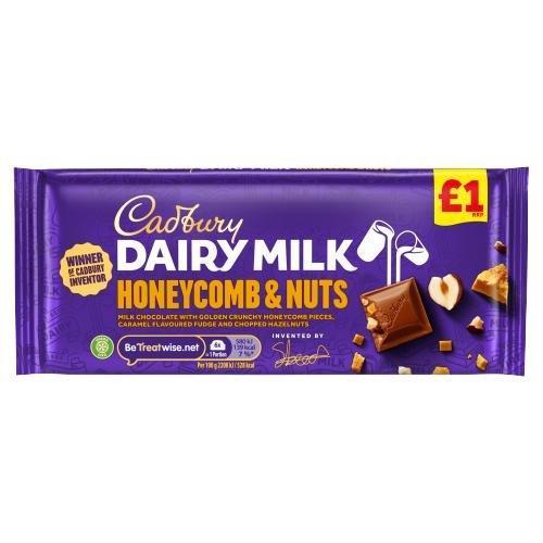 Cadbury Dairy Milk Block Honeycomb 105g PM £1 NEW