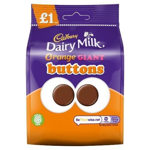 Cadbury Bag Orange Buttons 95g PM £1 NEW