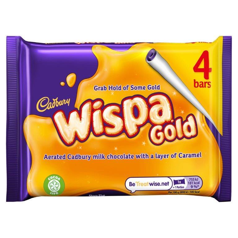 Cadbury Wispa Gold 4pk (4 x 31.5g) NEW