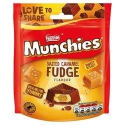 Munchies Salted Caramel Fudge Pouch 97g NEW