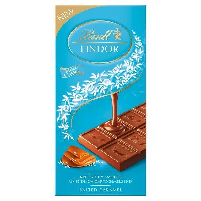 Lindt Lindor Tablet Salted Caramel 100g NEW