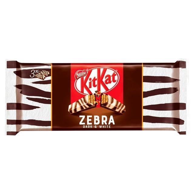 Kit Kat 4 Finger Zebra 3pk (3 x 41.5g) NEW