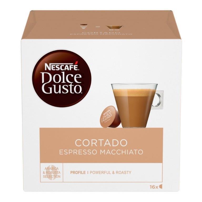 Nescafe Dolce Gusto Espresso Macchiatto Cortado 16's 100.8g