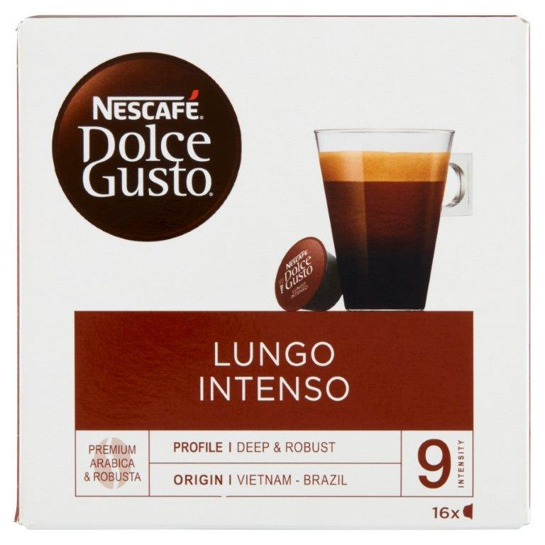Nescafe Dolce Gusto Lungo Intenso 16's 144g NEW