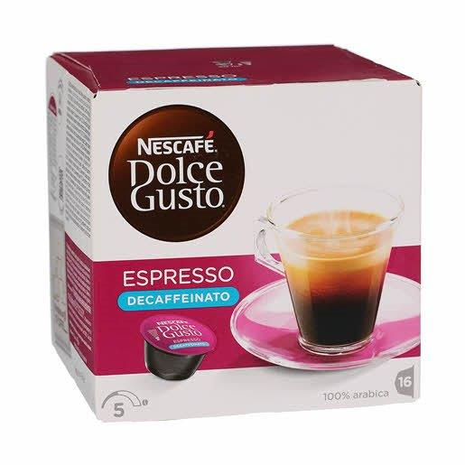 Nescafe Dolce Gusto Espresso Decaf Blue 16's 96g NEW