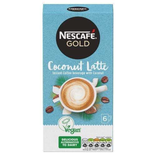 Nescafe Sachets Gold Coconut Latte 6's (6 x 15g) NEW