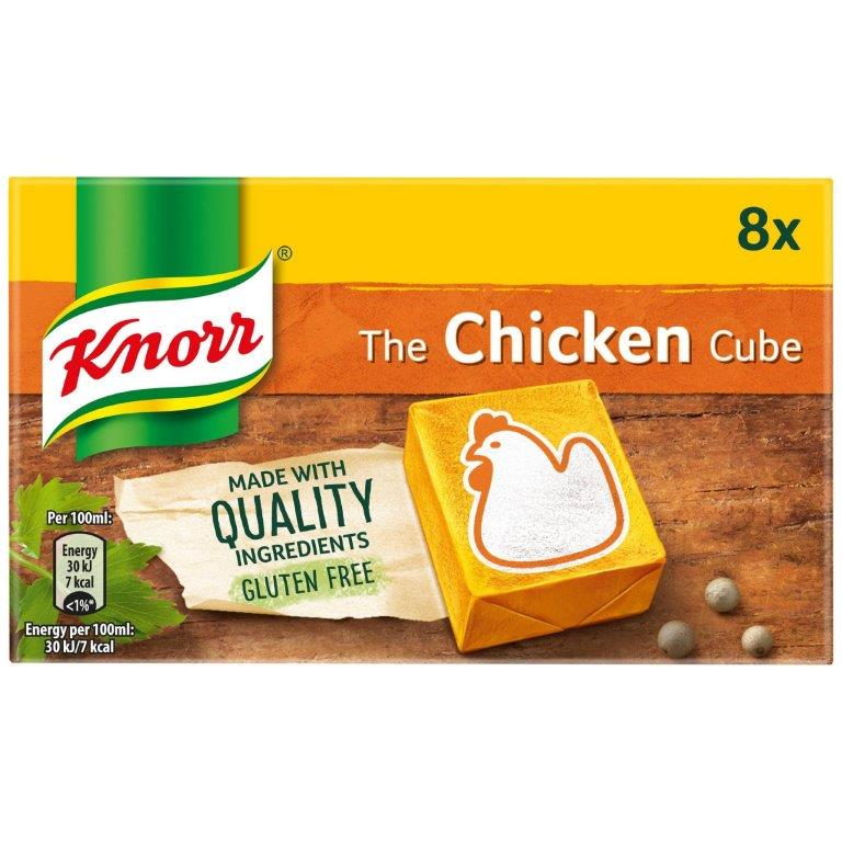 Knorr Stock Cubes Box Chicken 8's (8 x 10g)