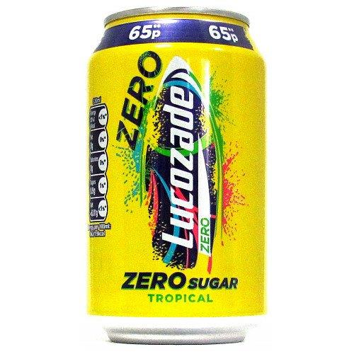 Lucozade Energy Can Tropical 330ml PM 65p NEW