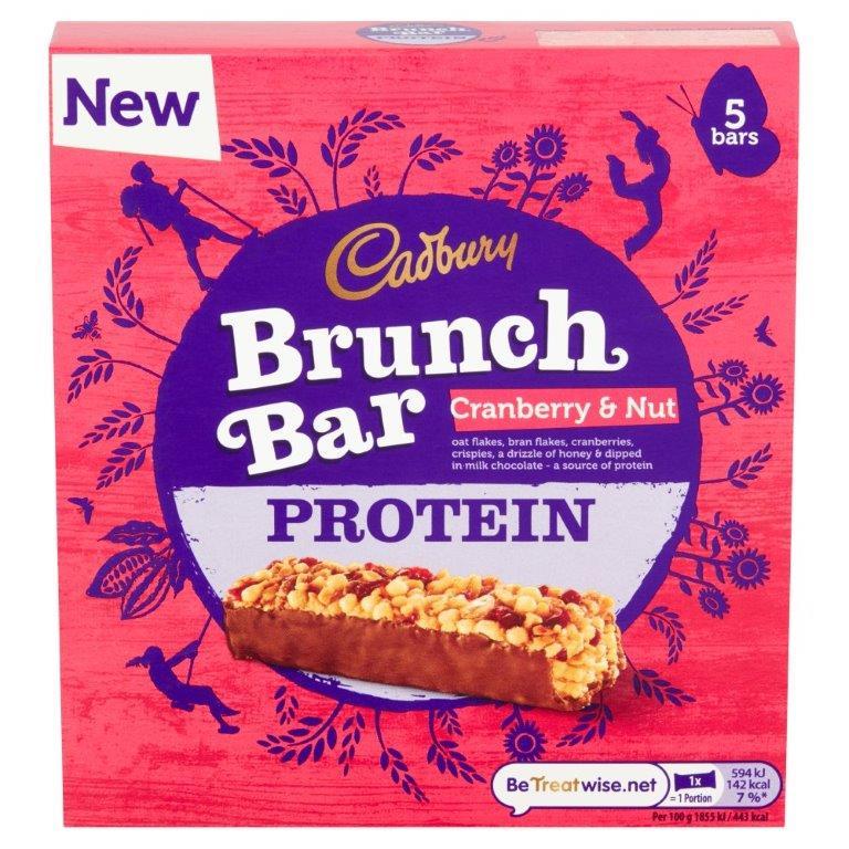 Cadbury Brunch Protein Cranberry 5pk (5 x 32g) NEW