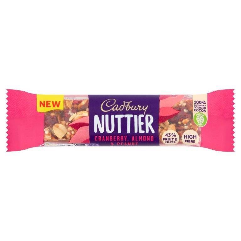 Cadbury Nuttier Almond & Cranberry Chocolate Bar 40g NEW