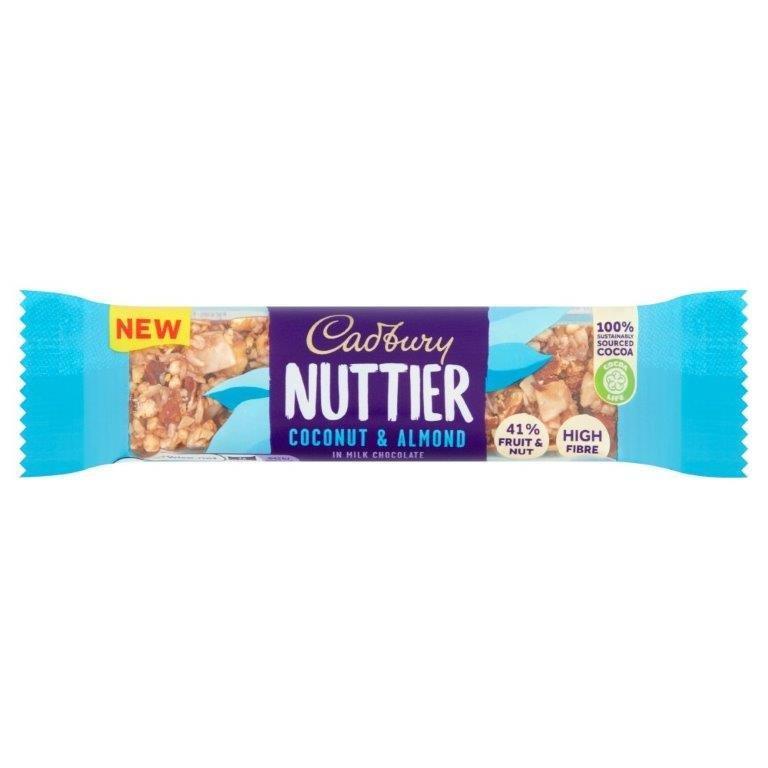 Cadbury Nuttier Coconut & Almond Chocolate Bar 40g NEW
