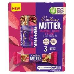 Cadbury Nuttier Almond & Cranberry 3pk (3 x 40g) NEW