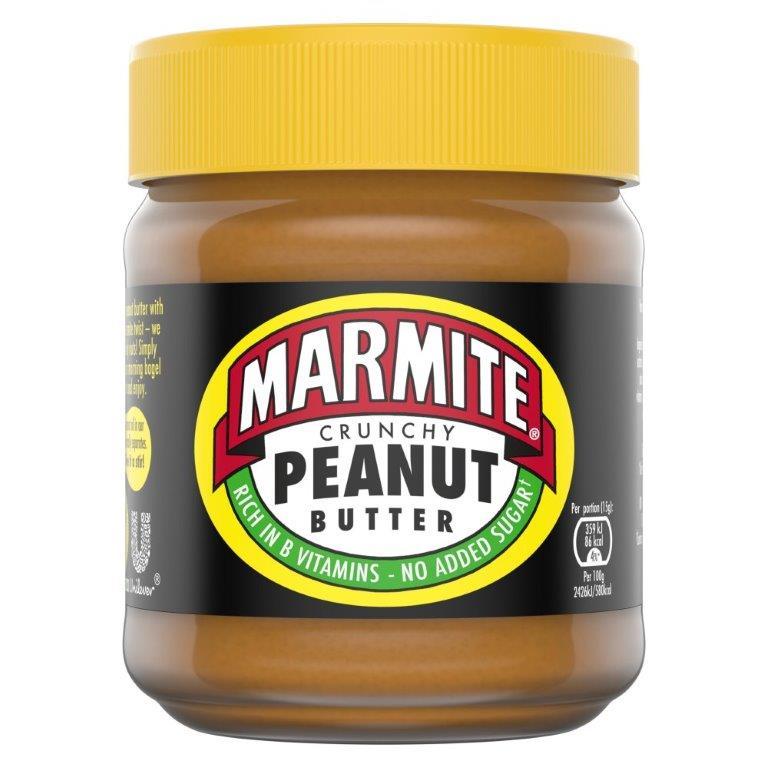 Marmite Peanut Butter Jar Crunchy 225g NEW