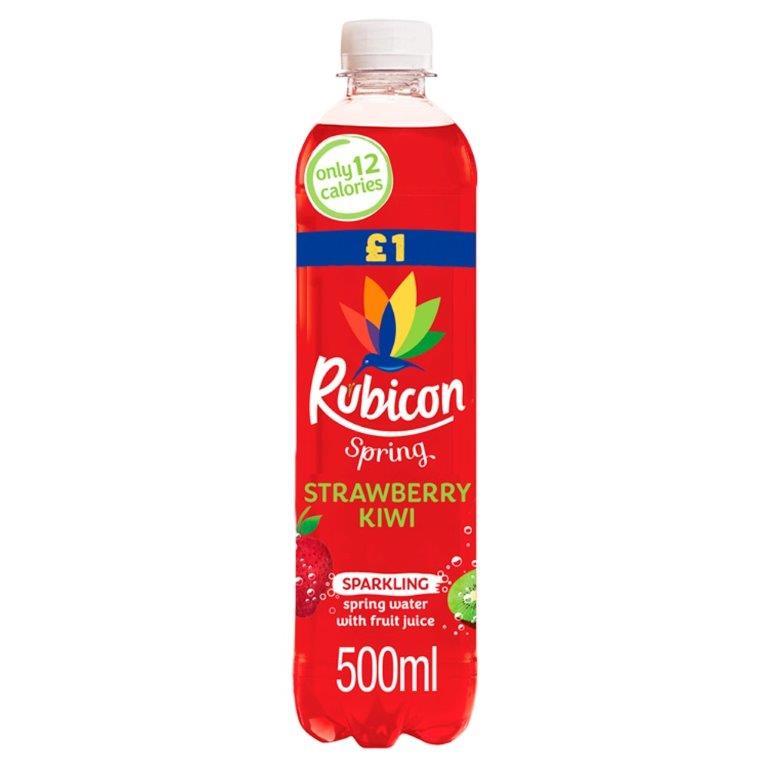 Rubicon Spring Kiwi & Strawberry 500ml PM £1 NEW