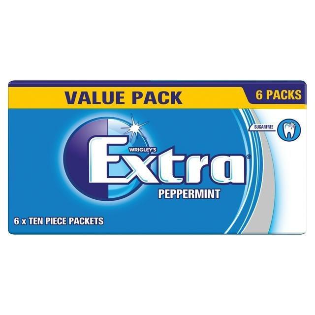 Wrigley's Extra 6pk Peppermint S/F (6 x 10pcs) 84g