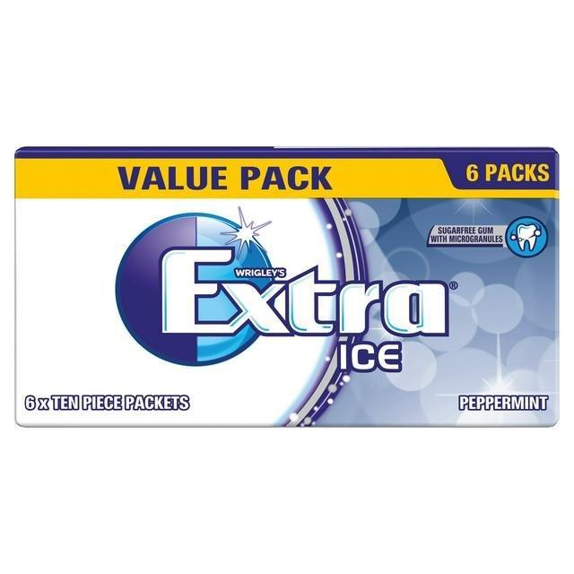 Wrigley's Extra 6pk Ice Peppermint 6pk S/F (6 x 10pcs) 84g