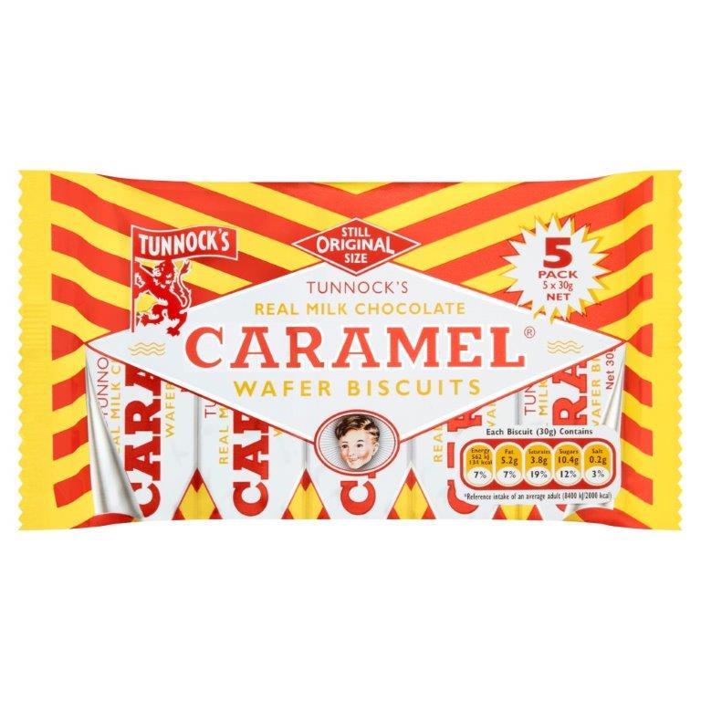 Tunnock's Caramel Wafer 5pk (5 x 30g)