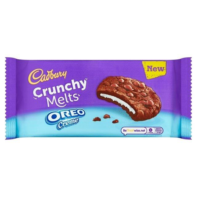 Cadbury Crunchy Melts Oreo 156g NEW