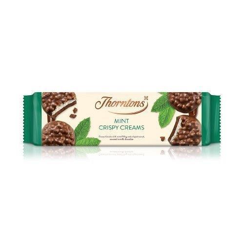 Thornton's Crispy Creams Mint 128g NEW