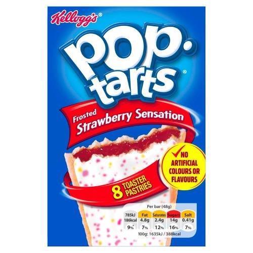 Kellogg's Pop-Tarts Strawberry Sensation 8pk (8 x 48g) NEW