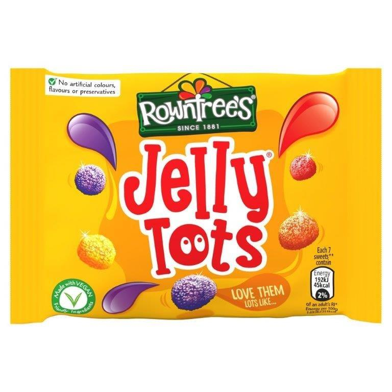 Rowntrees Std Jelly Tots Bag 42g
