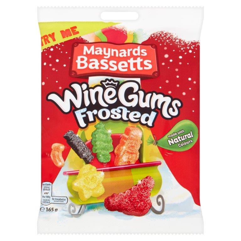 Maynards Wine Gums Frosted Bag 165g