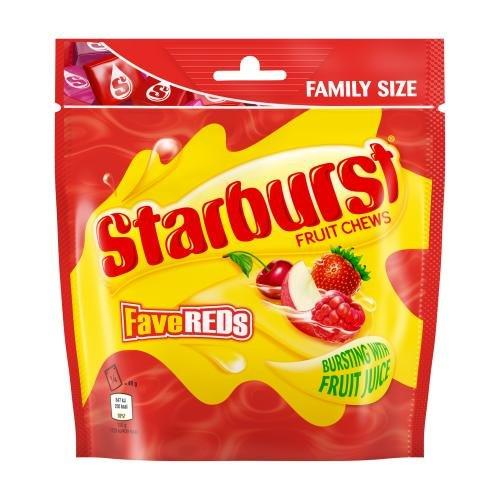Starburst Pouch Fave Reds 196g