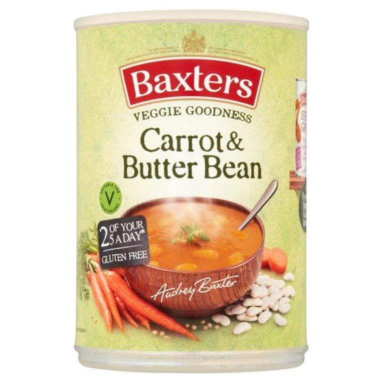 Baxters Veggie Goodness Carrot & Butter Bean Can Soup 400g