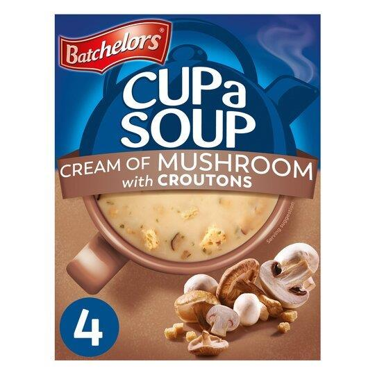 Batchelors Cup A Soup Sachets 4's Cream Of Mushroom 99g