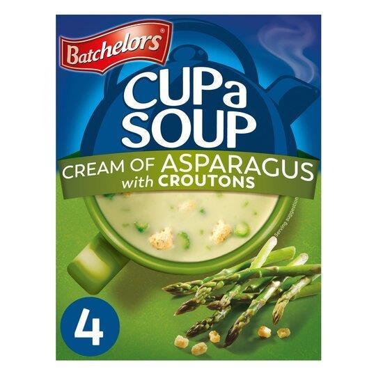 Batchelors Cup A Soup Sachets 4's Cream Of Asparagus 117g