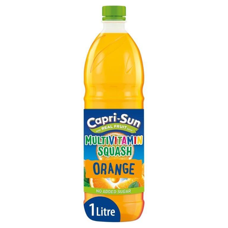 Capri-Sun NAS Multivitamin Squash Orange 1L NEW